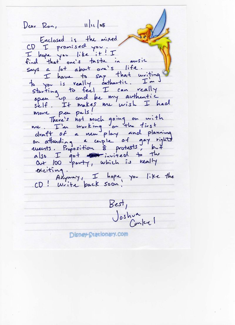 tarhearted love letters to ron prentice